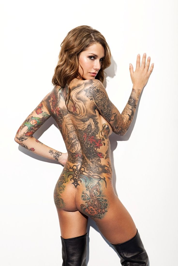 She's hot Sexy naked tattoos take