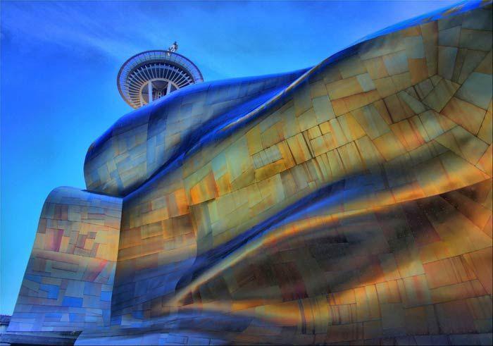 Фрэнк Гери (Frank Gehry): Experience Music Project («Опытный музыкальный проект»), Seattle, Washington, USA, 2000
