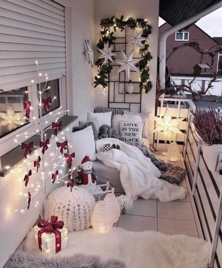 sleeping curled up on the porch small balcony decor apartment balcony decorating winter home on christmas balcony decorations apartment patio id=49922