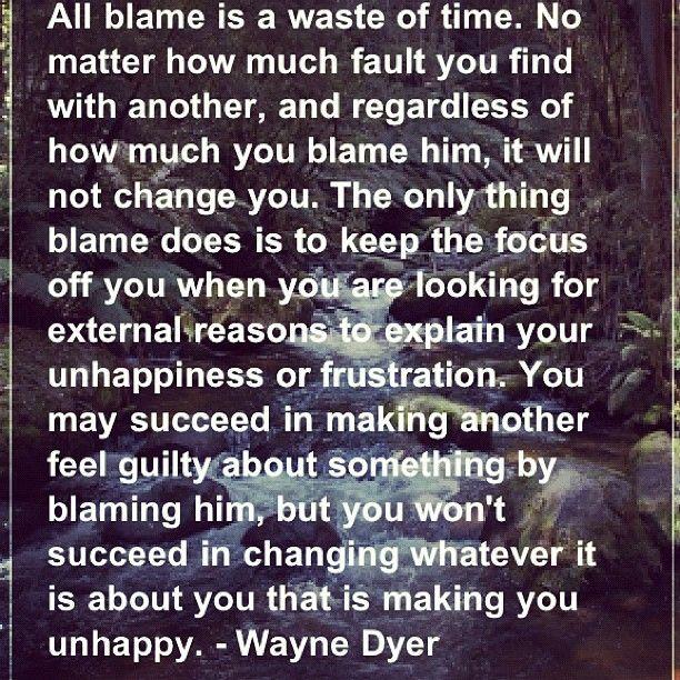 Blame.