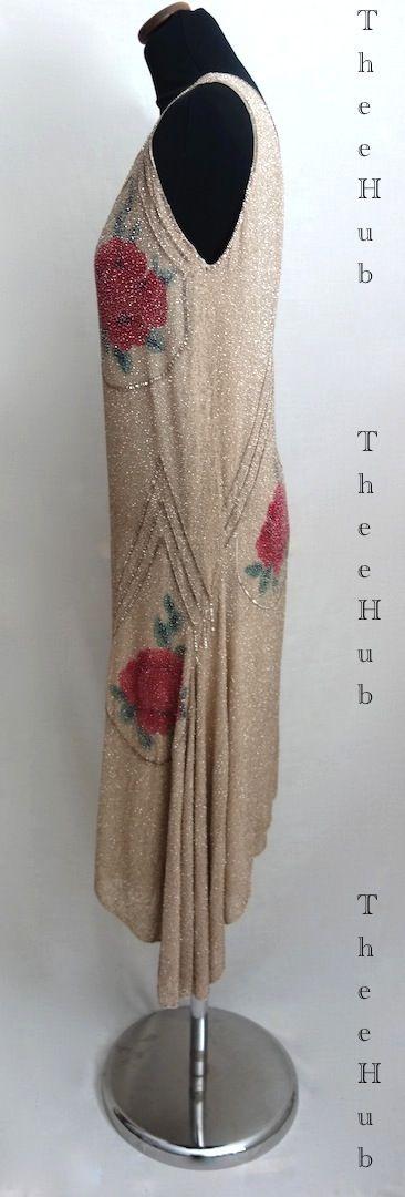 breathtaking oyster & raspberry 1920s soiree dress from thee hub
