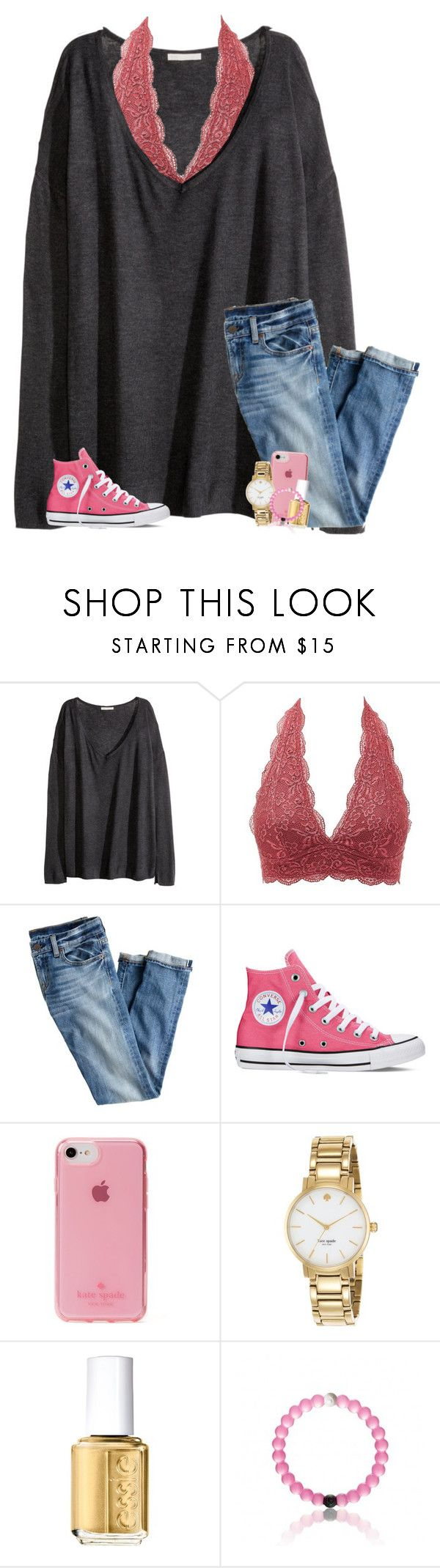 """""""black panther was rlly good tbh"""" by kendallthackston ❤ liked on Polyvore featuring H&M, Charlotte Russe, J.Crew, Converse, Kate Spade and Essie"""