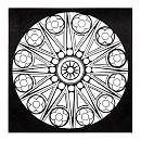 Mandala de roseta de estrella, sin indicación de lugar: 45 Mandala, Mandala De, Mandala Para