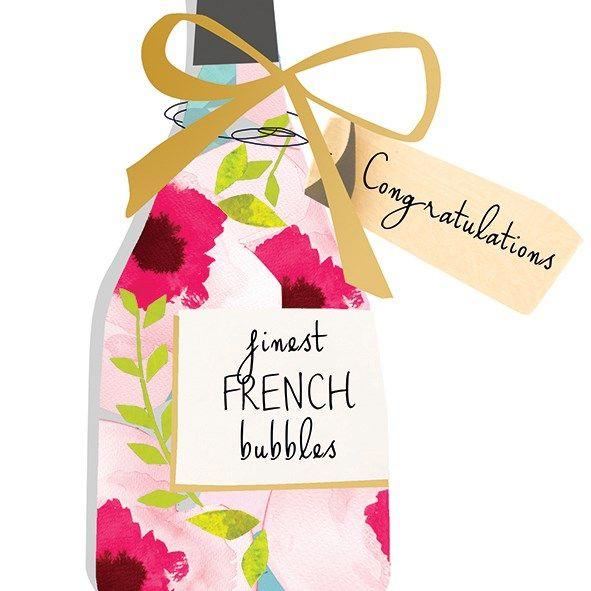Kort med Kuvert Congrats Champagne Black Olive