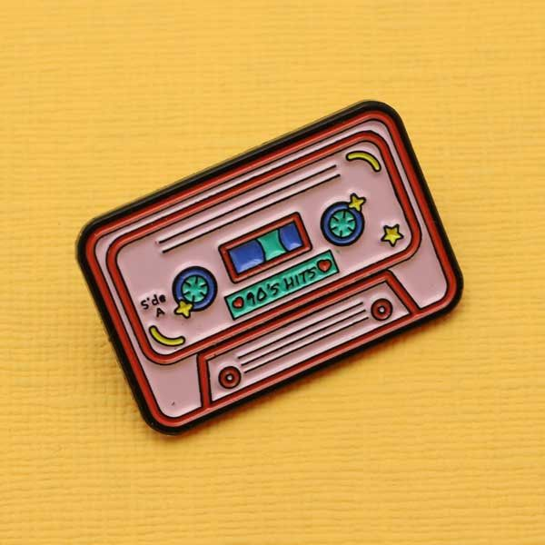 90's Mix Tape Enamel Pin