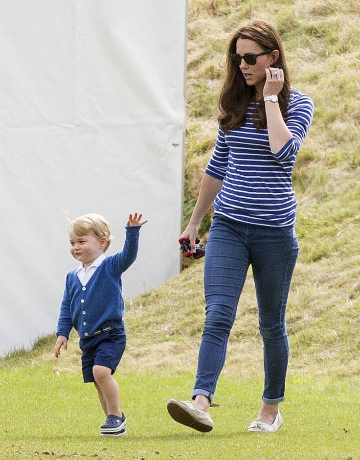 Prince George and Kate Middleton at Charity Polo Match - June 14, 2015