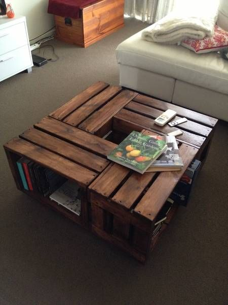 1000 ideas about crate coffee tables on pinterest wine for Gumtree beauty table