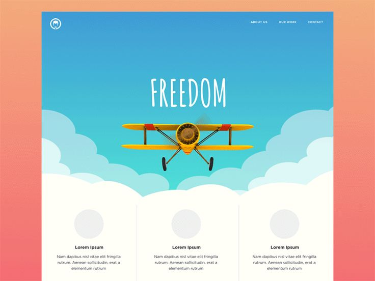 Web page scrolling animation