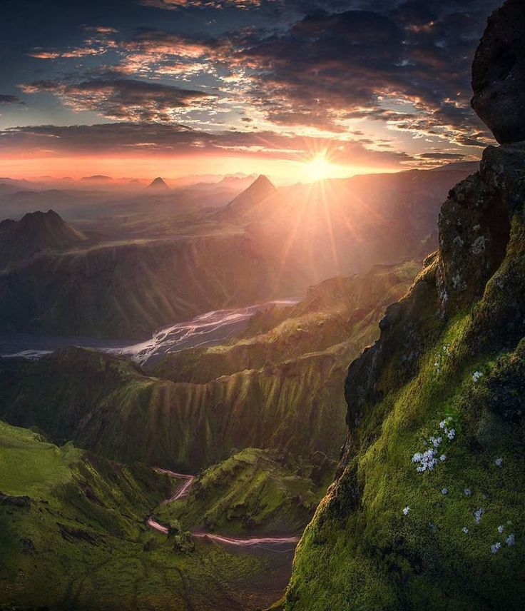 Sunrise in the highlands of Iceland