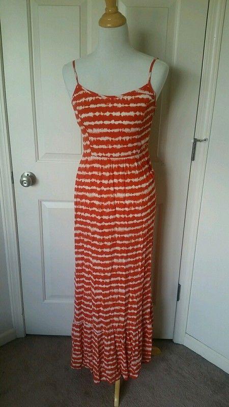 Orange tie dye maxi dress from Target