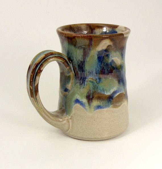 Stoneware Pottery Coffee or Tea Mug great for Mom by Hertzpottery, $18.00