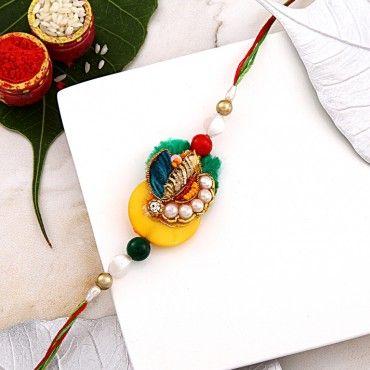 Elegant Pearl Designer Rakhi rakhi online shopping