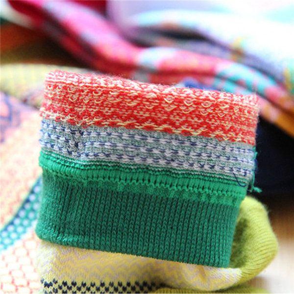 Men Women Stripe Cotton Socks Design Multi-Color Fashion Casual Ankle Sock