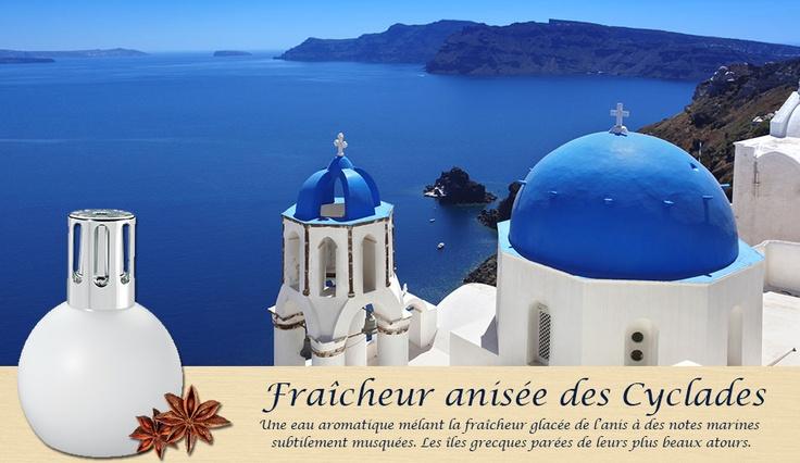 Parfum de Maison, Fraîcheur anisée des Cyclades. Promenade ensoleillée dans les îles Grecques…  Une fragrance aromatique, fraîche et douce.