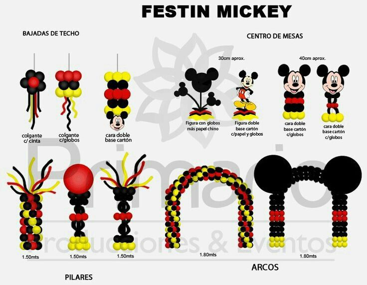Mickey Mouse balloon arches