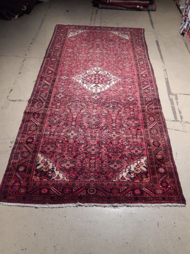 Semi-Antique Herati Affordable Area Rugs Hand Knotted 5' x 12' Persian Runner