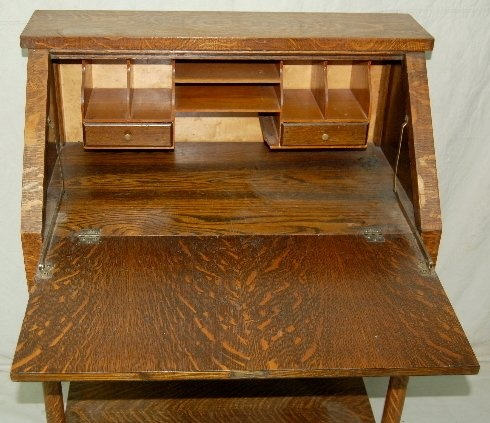 antique drop front desk with one drawer | Antique Oak Drop Front Writing  Desk w/ One Drawer : Lot 208F | Interesting | Pinterest | Writing desk, ... - Antique Drop Front Desk With One Drawer Antique Oak Drop Front