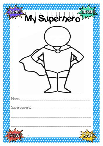 Various Worksheet for the theme of Superheroes