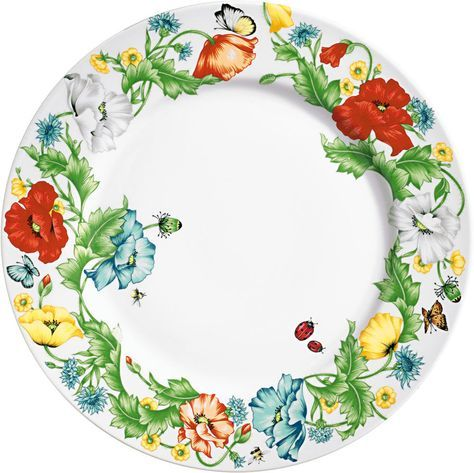 Taitù Milano - 'Papaveri' Fine Porcelain Dinnerware Collection - Charger Plate -- Taitù di Emilio Bergamin azienda avanguardia design porcellane, produzione porcellana Bone China per la casa.  Taitù by Emilio Bergamin leader design porcelain, production porcelain Bone China for the home.