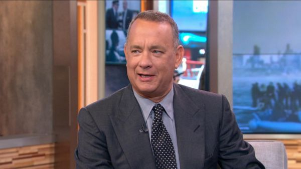 """Tom Hanks was on """"Good Morning America"""" today to chat about his new film…"""