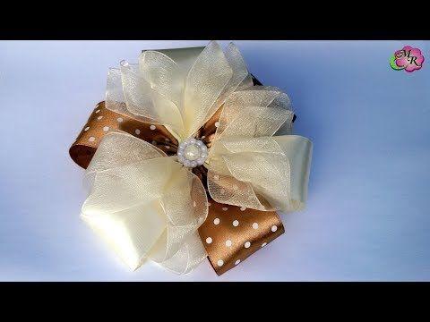 Нарядный бант на 1 Сентября #2. Канзаши МК/Elegant bow to school #2. DIY Kanzashi - YouTube