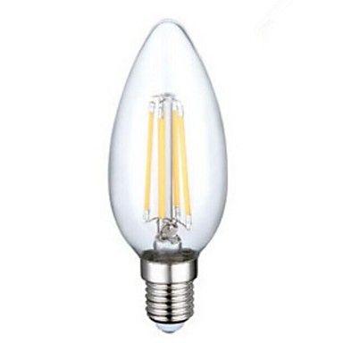 E14 LED Filament Bulbs C35 4PCS COB 400LM lm Warm White Decorative AC 220-240 V