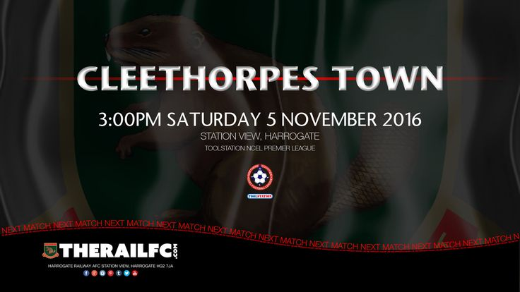 Next Match: Harrogate Railway v Campion    @therailfc @CleeTownFC @Edwhite2507 @Howell_rm #NCEL