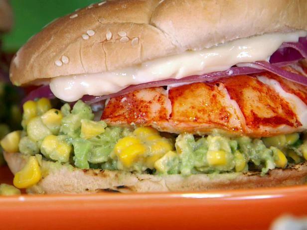 Grilled Lobster Sandwich w/ charred corn & Avocado....oh my gosh, yum!!!
