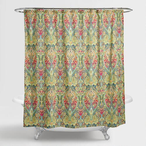 One of my favorite discoveries at WorldMarket.com: Alessia Shower Curtain