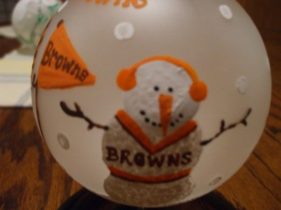 Cleveland Browns Football Ornament by meganelene on Etsy, $24.00