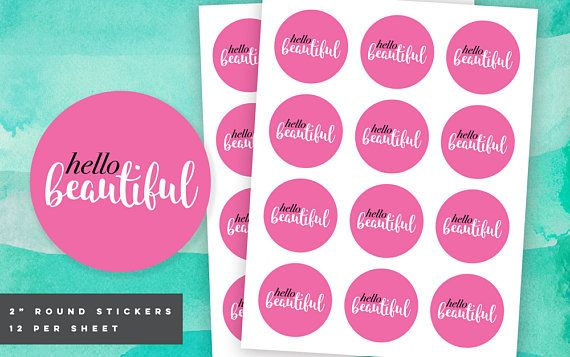 Hello Beautiful Sticker, Motivational Stickers Printable Envelope Seals, Poshmark Thank You, Pink Shipping Labels, Printable Thank You Tags – Poshmark Tips, Selling on Poshmark