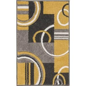 Well Woven Ruby Galaxy Waves Gold 7 ft. 10 in. x 9 ft. 10 in. Modern Area Rug-600117 - The Home Depot
