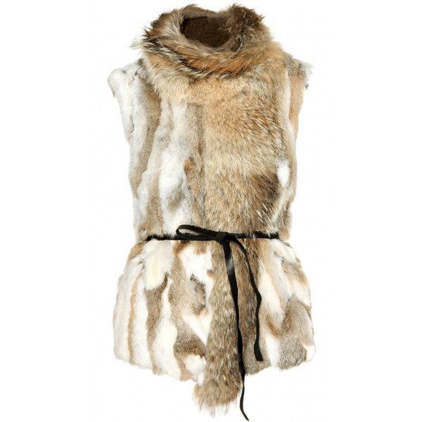 ISABEL MARANT John Steppe Fur Vest ($1,190) ❤ liked on Polyvore featuring outerwear, vests, vest, jackets, colorful vest, fur vest, leather belt, brown leather belt and isabel marant