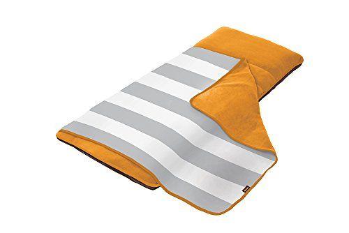 The Shrunks Zipaire Toddler Siesta Nap Pad, Orange/Grey
