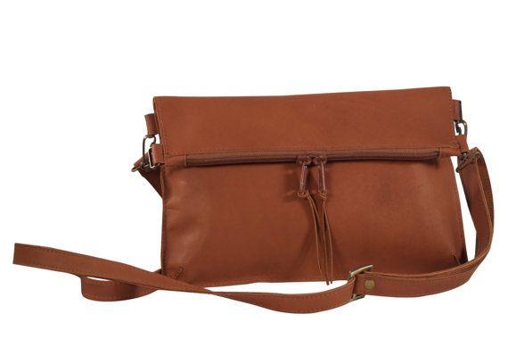 Natalie Jr. (petite) pochette zippée en cuir, bandoulière sac, sac en cuir, sacs de messager, Sac à main, Sacs à bandoulière. Bolso Terciado