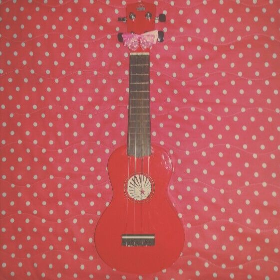 My ladybug 🐞  #ukulele #music #cute #girly #polkadot #bow