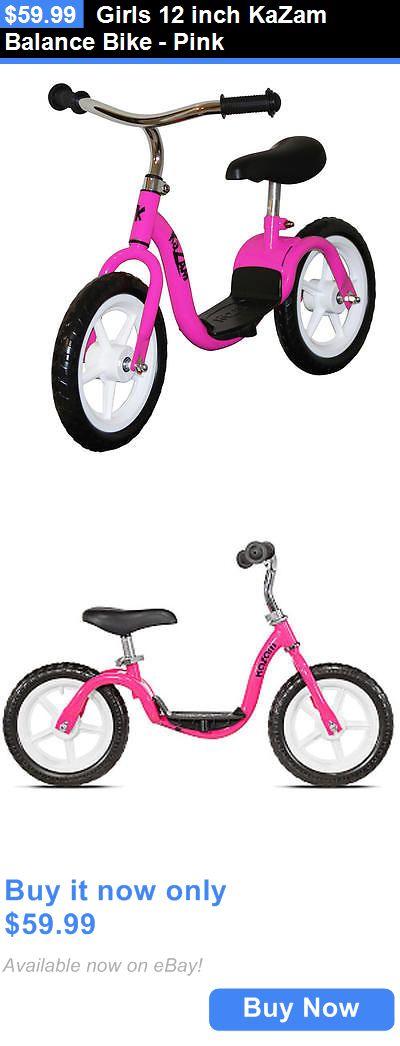bicycles: Girls 12 Inch Kazam Balance Bike - Pink BUY IT NOW ONLY: $59.99