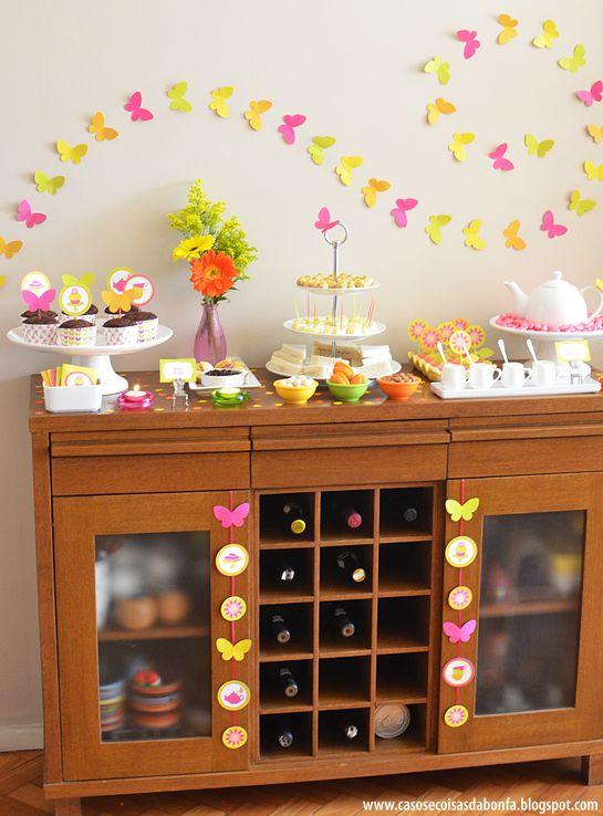 PAINEL DE FUNDO - Dessert Tablescape | Butterfly Tea Party | Katia Bonfadini, CASOS & COISAS DA BONFA