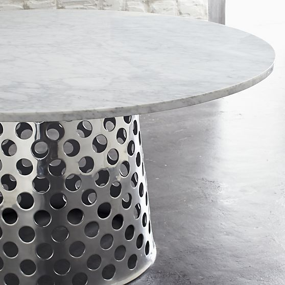 I need a new house so I can use the Como Round Marble Top Dining Table by Paola Navone for Crate and Barrel