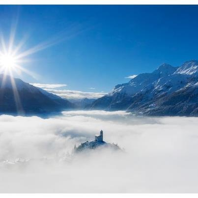 Montvalezan La Rosière Savoie France. One of the most amazing sites for a church! Just 10 minutes from Sainte Foy. La Rosière is linked with La Thuile in Italy - breakfast in France - lunch in Italy! Great for a day trip on a still, sunny day.