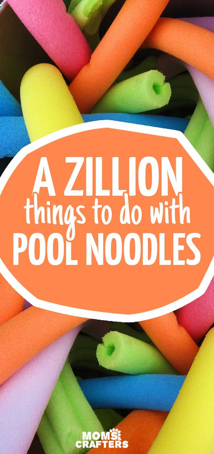 Did you know that there are about a zillion things you can do with pool noodles - other than swimming with them?! These fun pool noodle crafts and activities make great fun summer activities for kids of all ages - but some of them are perfect for year round!