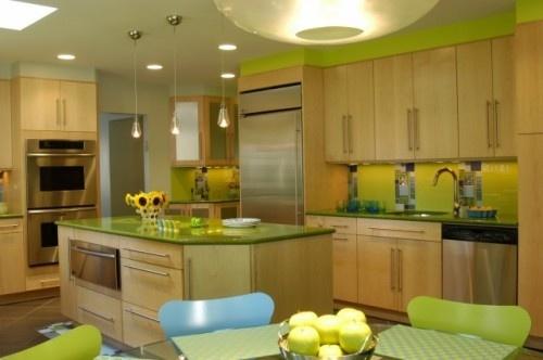 green.: Decor, Kitchens, Interior, Ken Kelly, Color, Green Kitchen, Eclectic Kitchen, Kitchen Ideas, Kitchen Designs