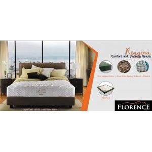 Florence REGGINA Springbed      Urban Living Series     tebal/tinggi : 27 cm     sandaran : Lazzaro Brown tinggi 120 cm     divan bawah Lazarro Brown : 24 cm     Comfort Level : MEDIUM FIRM http://klikfurniture.com/florence-spring-bed/2875-florence-reggina-springbed.html