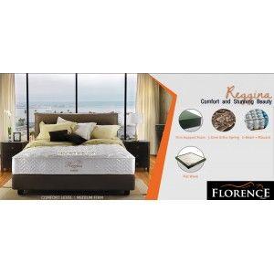 REGGINA Florence Spring Bed SERI : Urban Living Mattress thickness : 27 cm Headboard : Lazzaro Brown tinggi 120 cm Foundation Lazarro Brown : 24 cm Comfort Level : MEDIUM FIRM - See more at: http://www.kasurspringbed.com/florence-springbed/577-reggina-florence-spring-bed.html