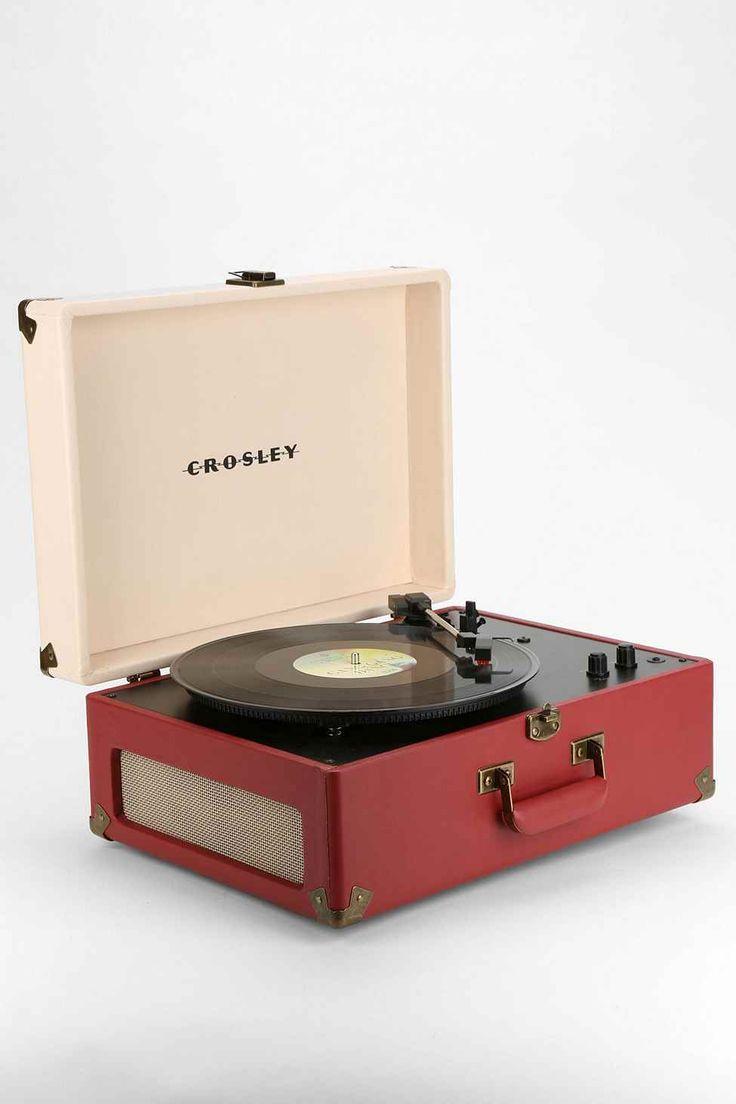 Crosley Keepsake Portable Turntable EU Plug in Red