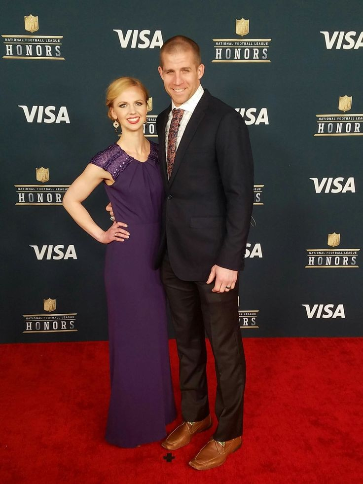 Jordy Nelson and his wife.