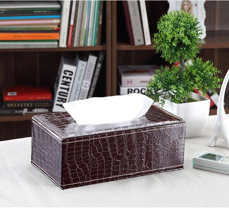 fashion brown Crocodile rectangle wooden leather napkin holder wood tissue box tissue box cover for home decor PZJH002
