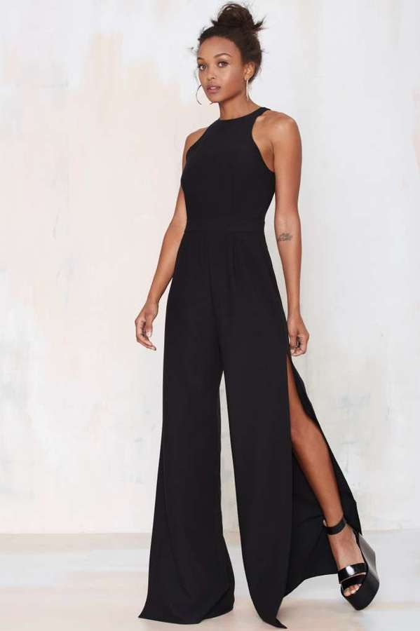 Nasty Gal Side View Palazzo Jumpsuit