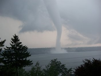 Buffalo, NY - 1 of 4 tornadoes to strike in the same day, unheard of.