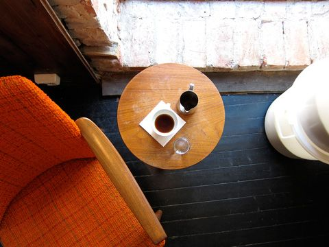 oslo coffee shops | including tim wendelboe (pictured): Three Chairs, Article, Coffee Shots, Retro Chairs, Oslo Coffee, Orange Chairs, Drink Coffee, Coffee Shop